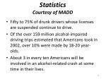 statistics courtesy of madd1