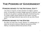the powers of government2