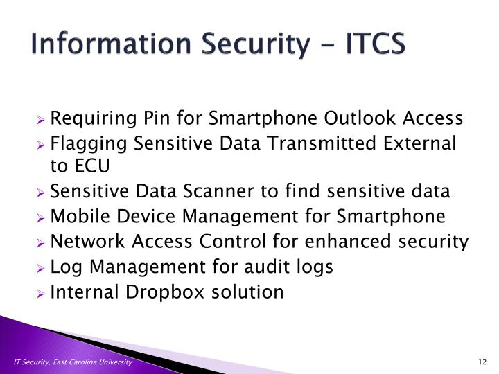 Information Security - ITCS