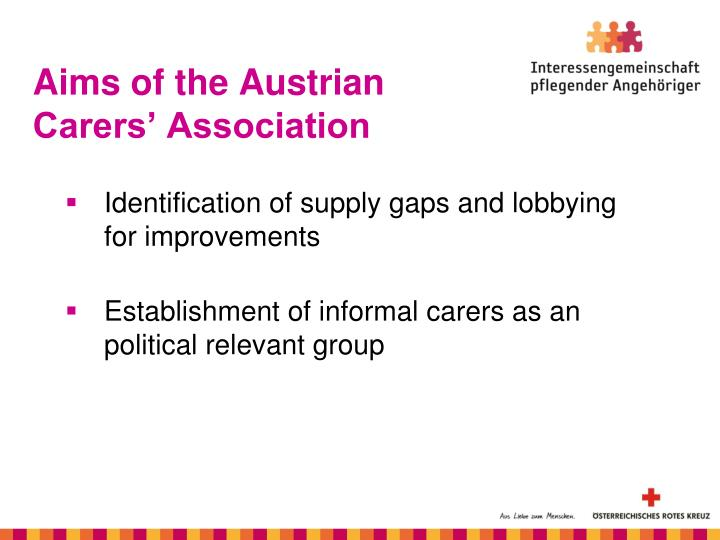 Aims of the Austrian Carers' Association