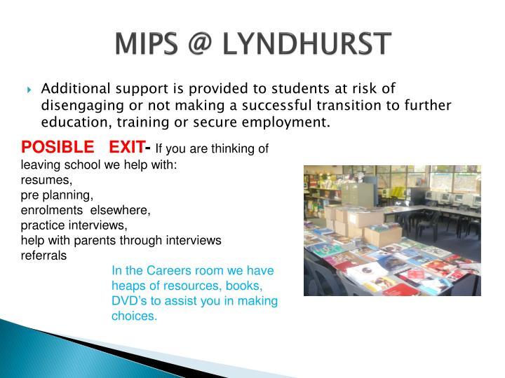 MIPS @ LYNDHURST