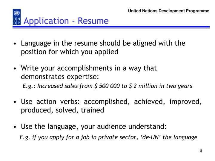 Application - Resume