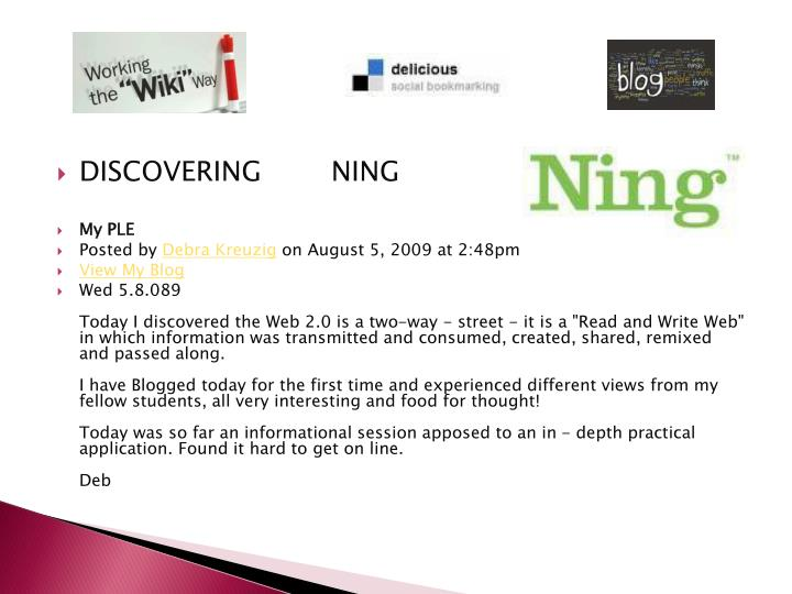 DISCOVERING        NING