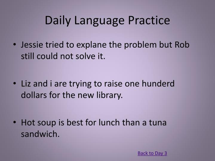 Daily Language Practice