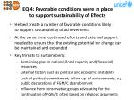 eq 4 favorable conditions were in place to support sustainability of e ffects