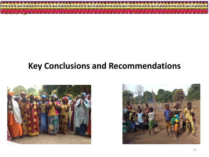 Key Conclusions and Recommendations