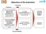 objectives of the evaluation