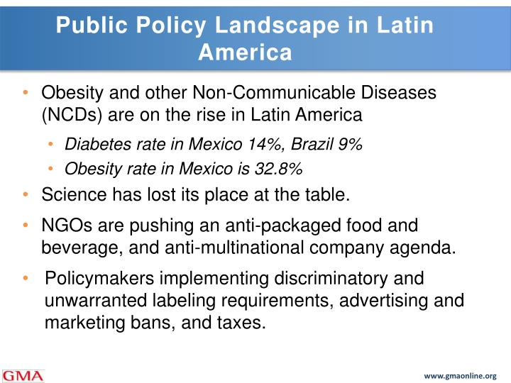 Public Policy Landscape in Latin America