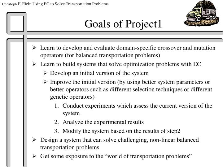 Goals of Project1