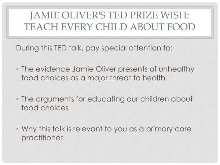 """teach every child about food 3 responses to """"speech analysis by the one minute presenter on jamie oliver's ted prize wish: teach every child about food [long post]."""