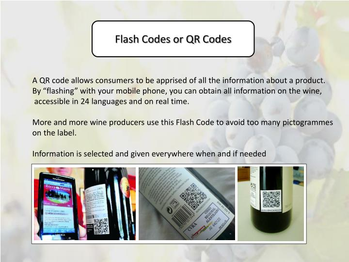 Flash Codes or QR Codes