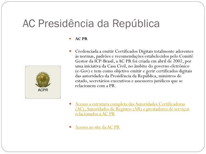 AC Presidência da República