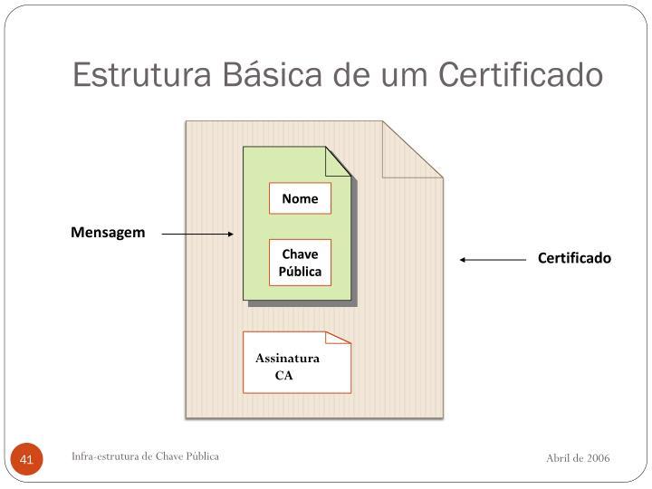 Estrutura Básica de um Certificado