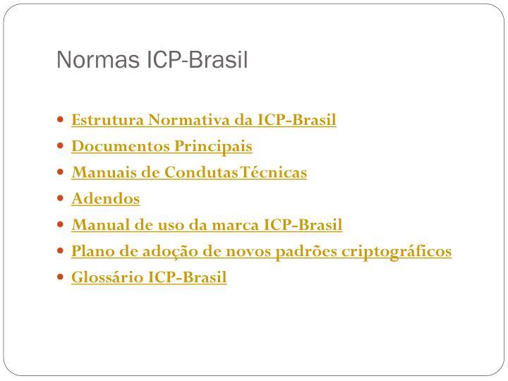 Normas ICP-Brasil