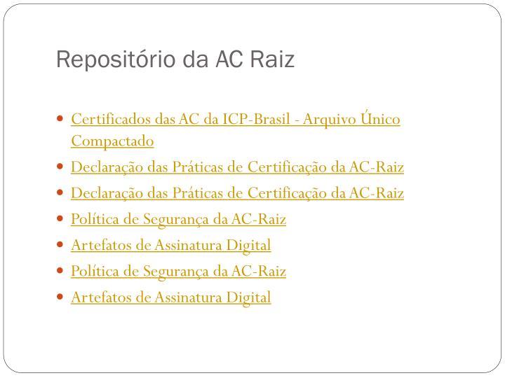 Repositório da AC Raiz