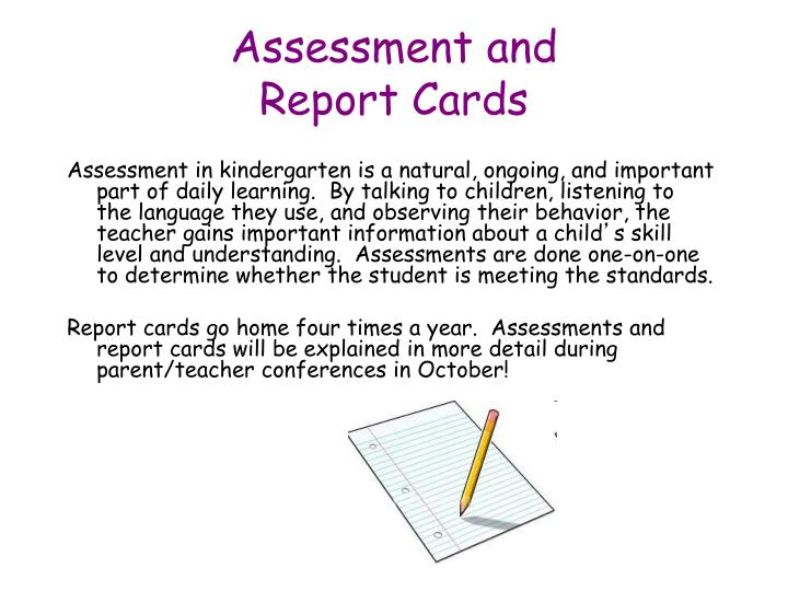 Assessment and