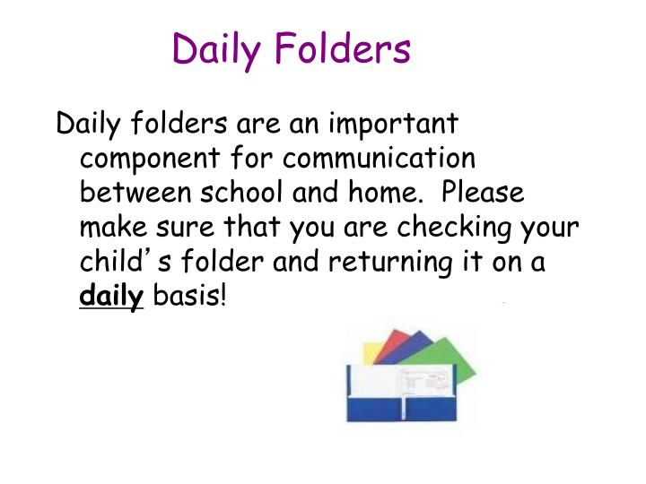 Daily Folders