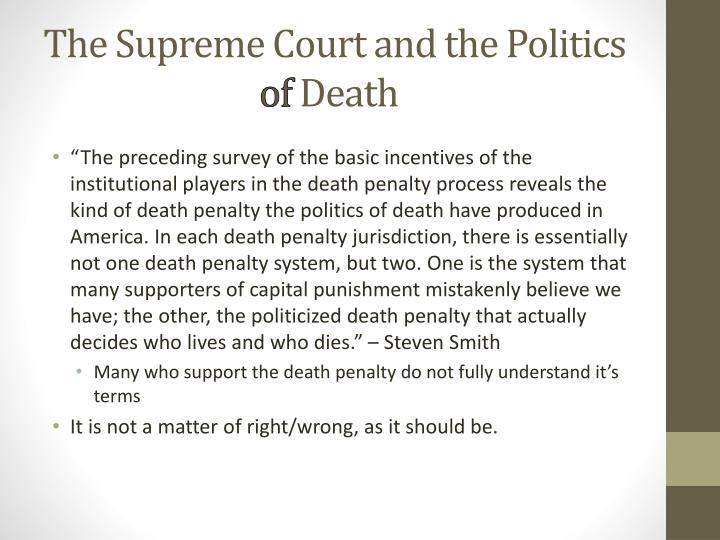 The Supreme Court and the Politics