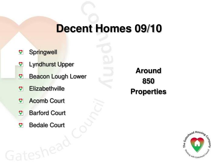 Decent Homes 09/10