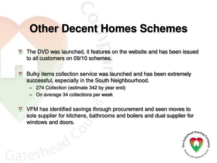 Other Decent Homes Schemes