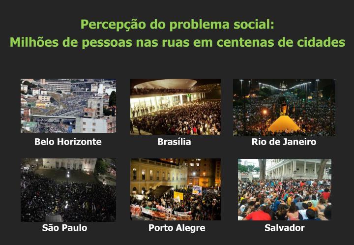 Percepção do problema social: