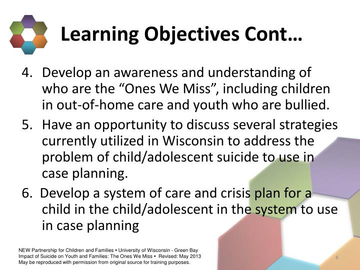 Learning Objectives Cont…