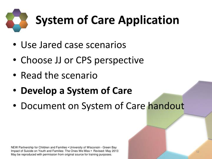 System of Care Application