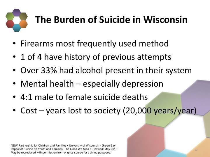 The Burden of Suicide in Wisconsin