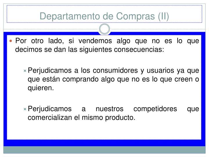 Departamento de Compras (II)