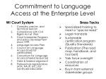 commitment to language access at the enterprise level