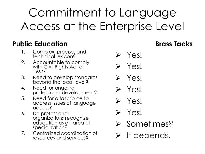 Commitment to Language