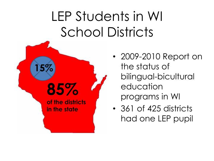 LEP Students in WI