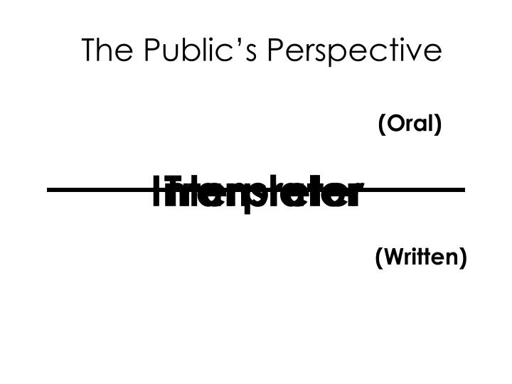 The Public's Perspective