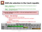 d gr site selection in the czech republic