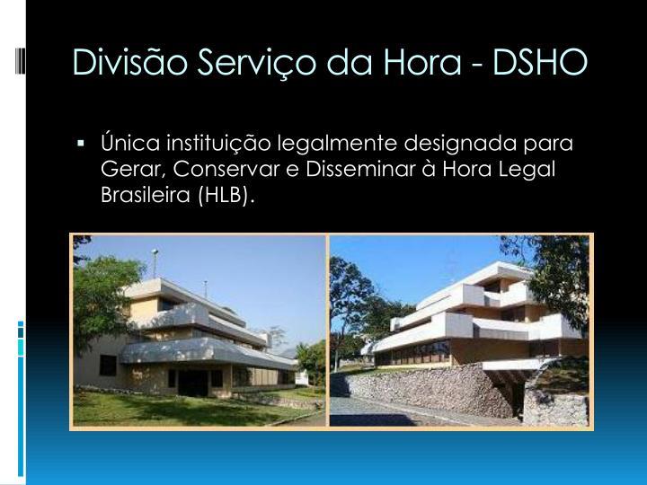 Divisão Serviço da Hora - DSHO