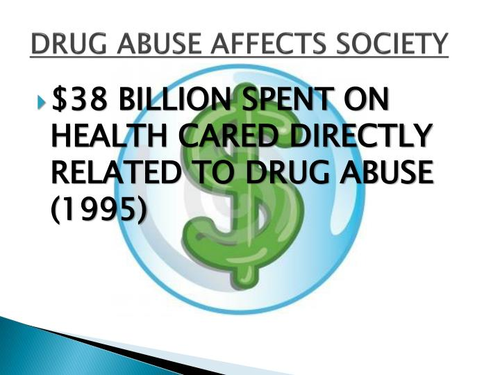 DRUG ABUSE AFFECTS SOCIETY