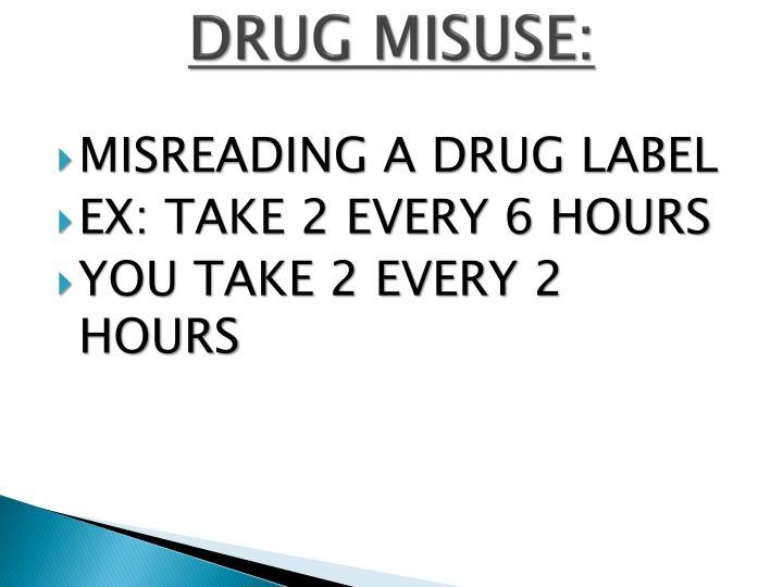 DRUG MISUSE: