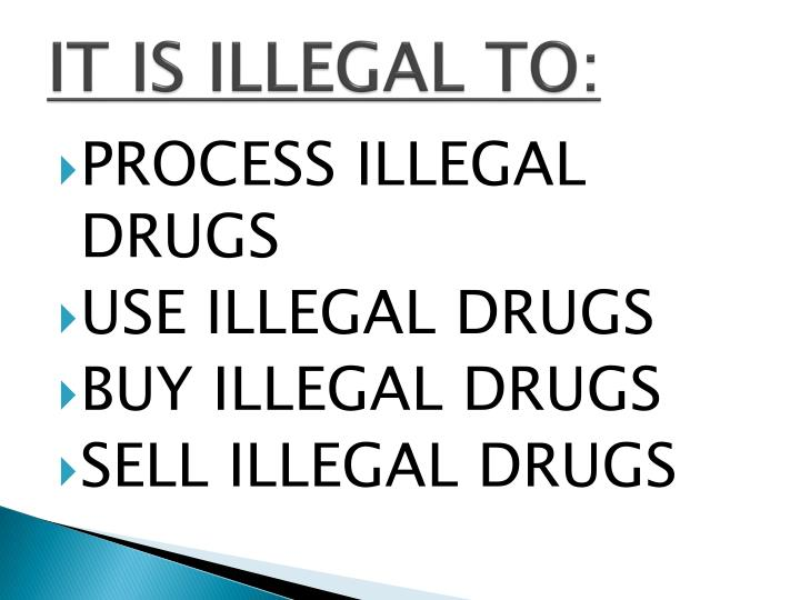 IT IS ILLEGAL TO:
