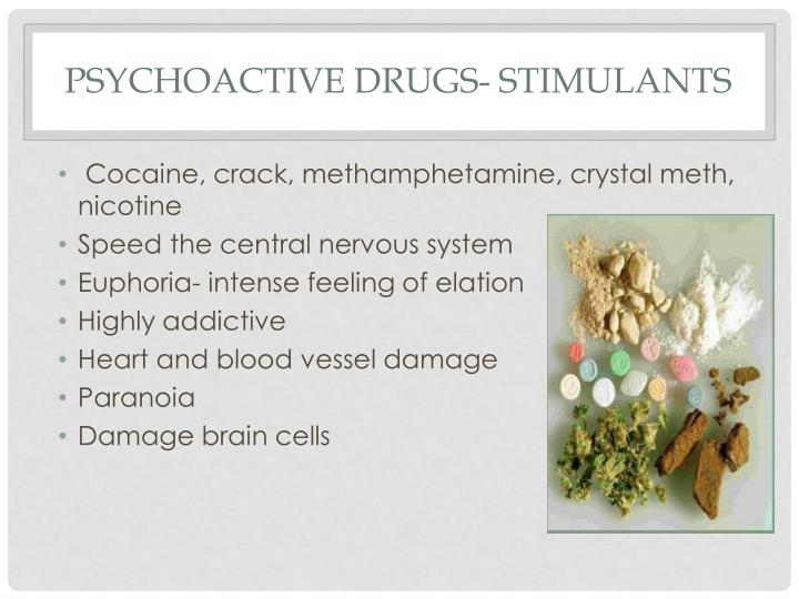 Psychoactive Drugs- Stimulants