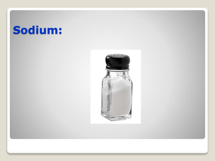 Sodium: