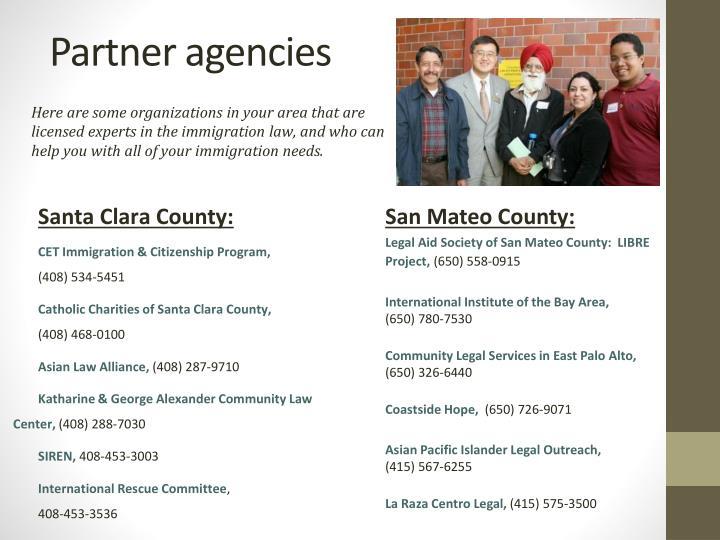 Partner agencies