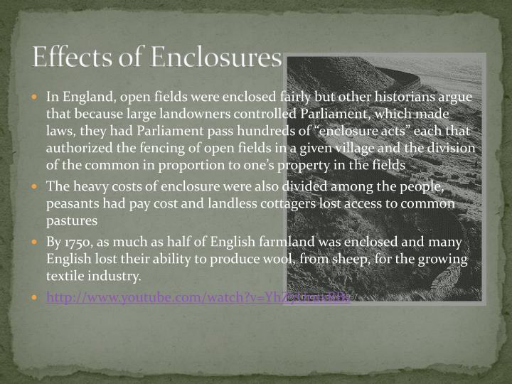 Effects of Enclosures