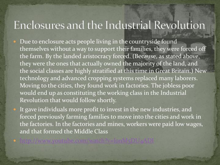 Enclosures and the Industrial Revolution
