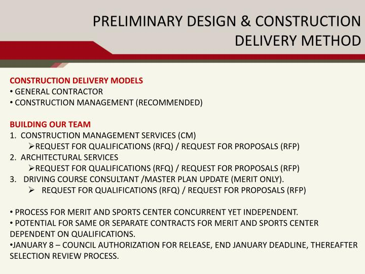 Construction Delivery models