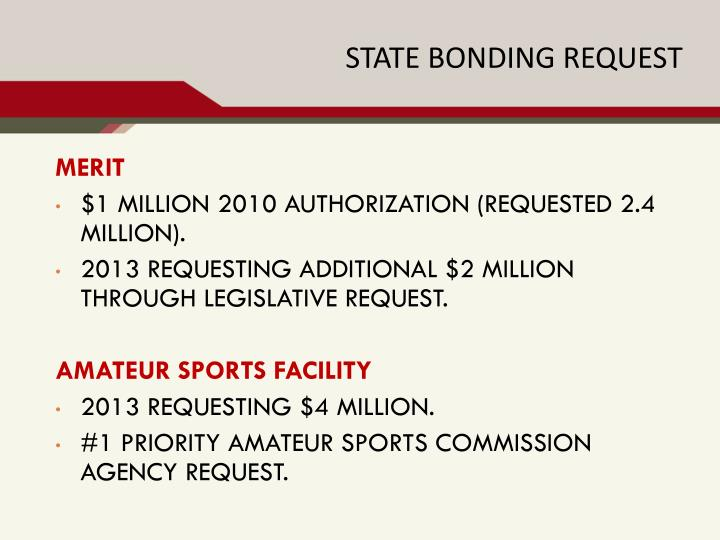 STATE BONDING REQUEST