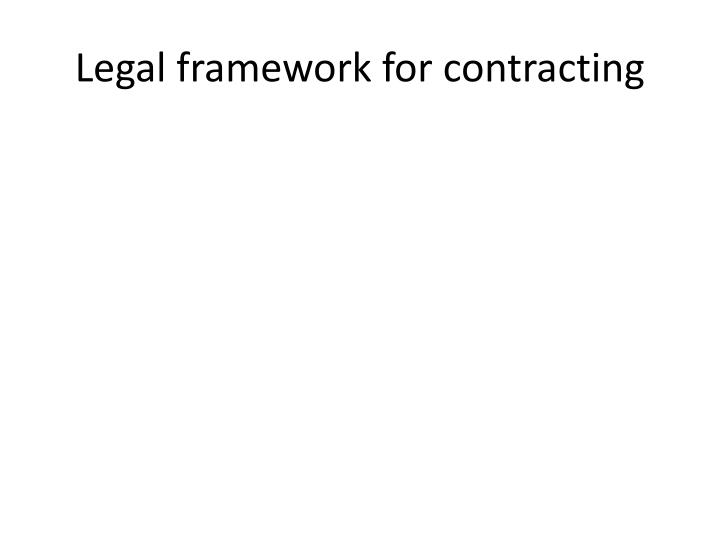 legal framework for contracting