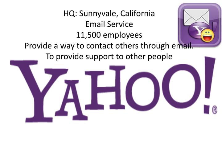 HQ: Sunnyvale, California
