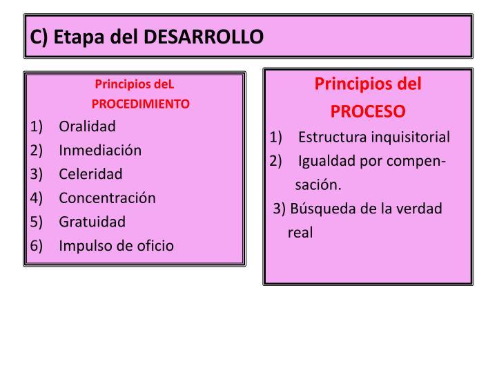 C) Etapa del DESARROLLO