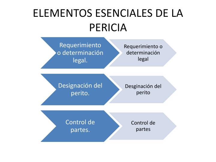 ELEMENTOS ESENCIALES DE LA PERICIA