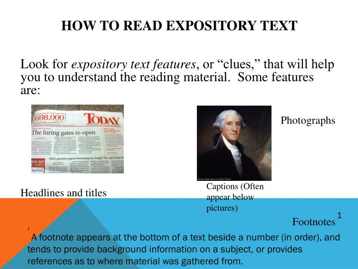 How to read expository text